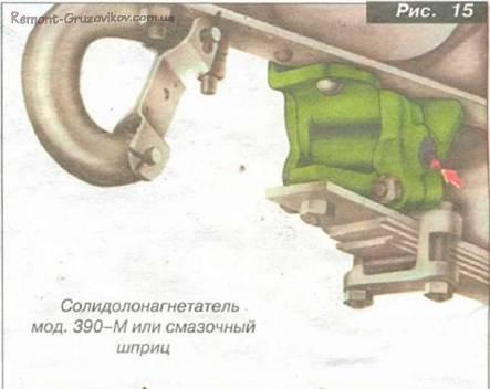 Смазки шарниров Камаз