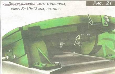 Дополнительные работы по ТО автомобиля камаз самосвалам моделей 55111, 55102