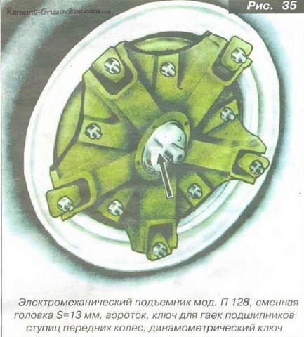 Регулировка подшипники ступиц передних колес камаз