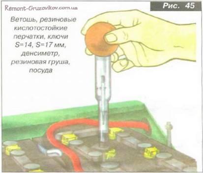 Поверка и зарядка аккумулятора Камаз