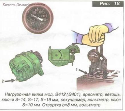 Проверка состояния аккумуляторных батарей Камаза под нагрузкой