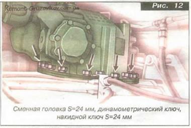 Проверка работы механизма блокировки межосевого дифференциала Камаз