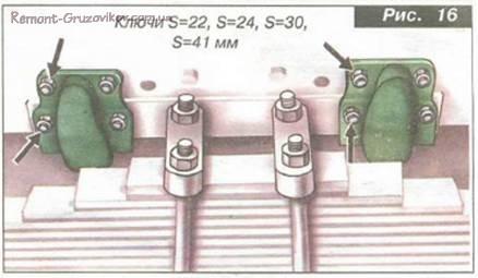 Проверка состояния рамы и зазор реактивных штанг