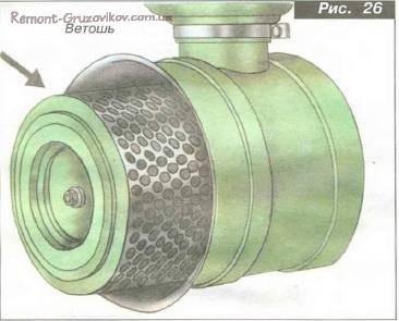 Замена фильтра воздухоочистителя Камаз