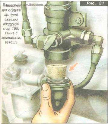 Замена масла в гидросистеме механизма подъема платформы Камаз