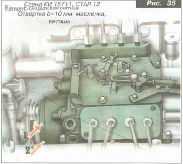 Техническое обслуживание ТНВД, Замена масла в муфте опережения впрыскивания топлива